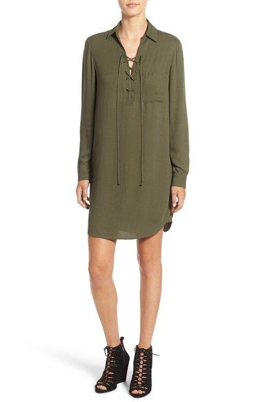 Lace Up Shift Dress Nordstrom Wayf Want It Style Lusts