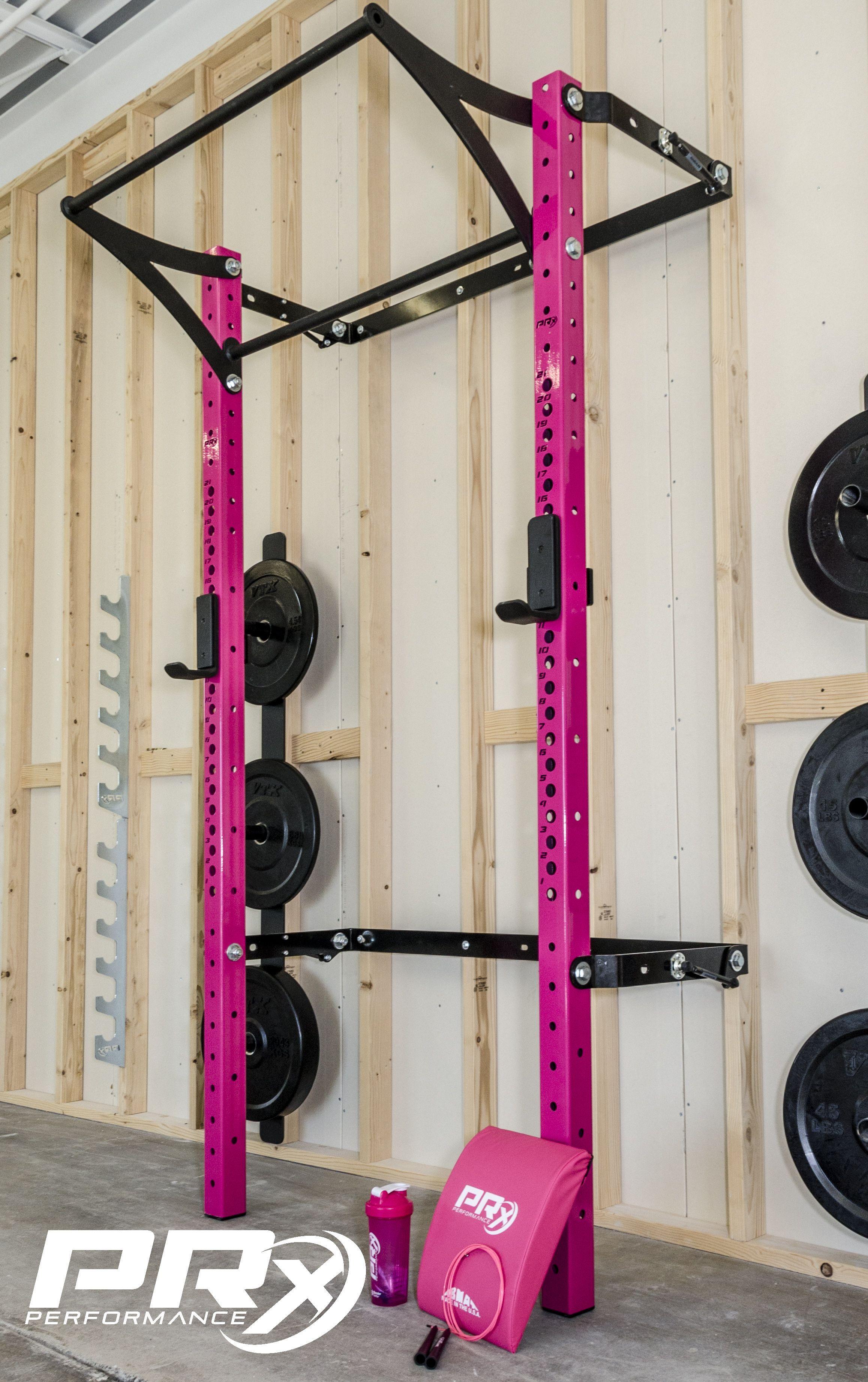 Pink Profile Rack! Home gym decor, Home gym design