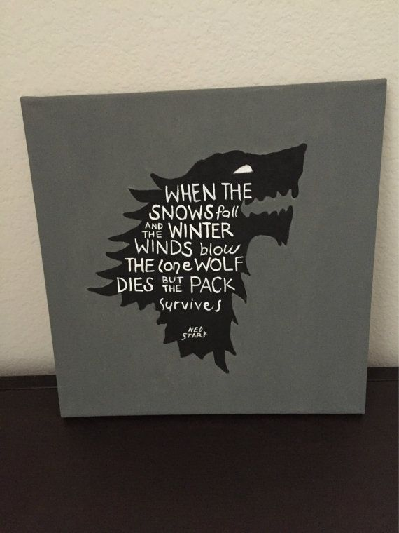 Game Of Thrones 12x12 Hand Painted Art Canvas By Thedailycanvas