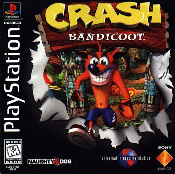 Crash Bandicoot Sony Playstation Cover Artwork Crash Bandicoot