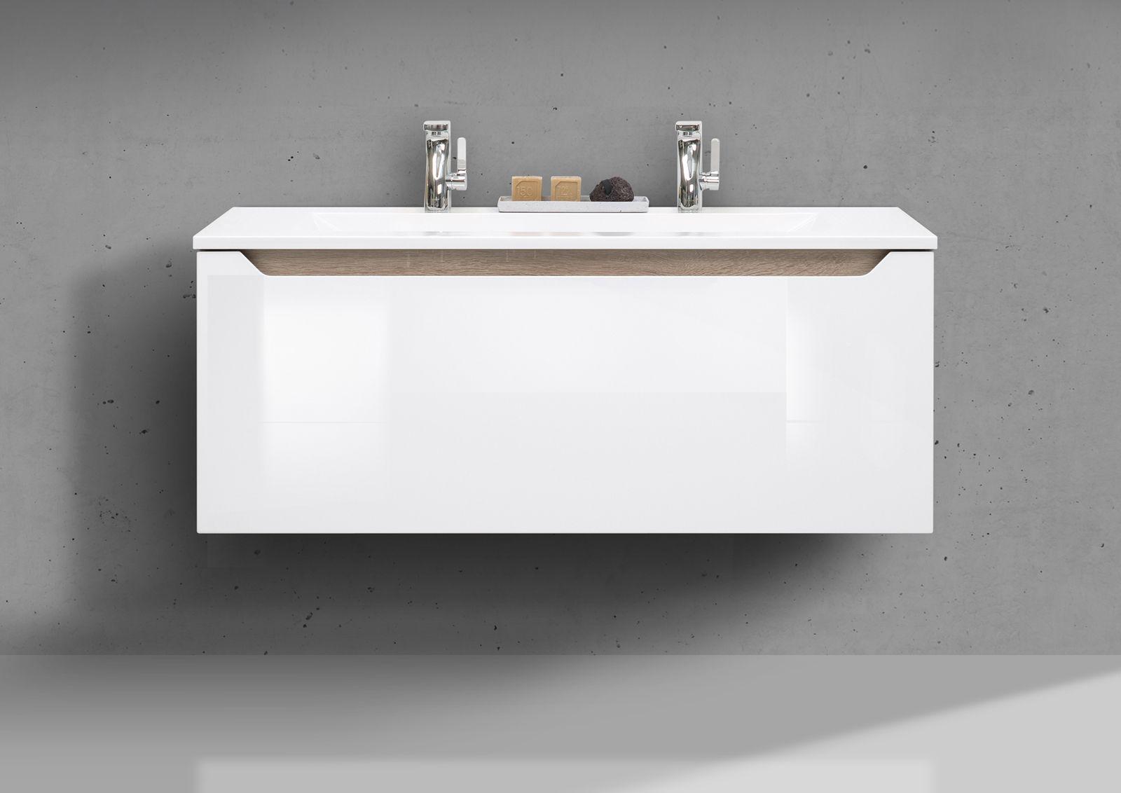 Designbaeder Com Badmobel Set Doppelwaschbecken Badezimmer Gunstig