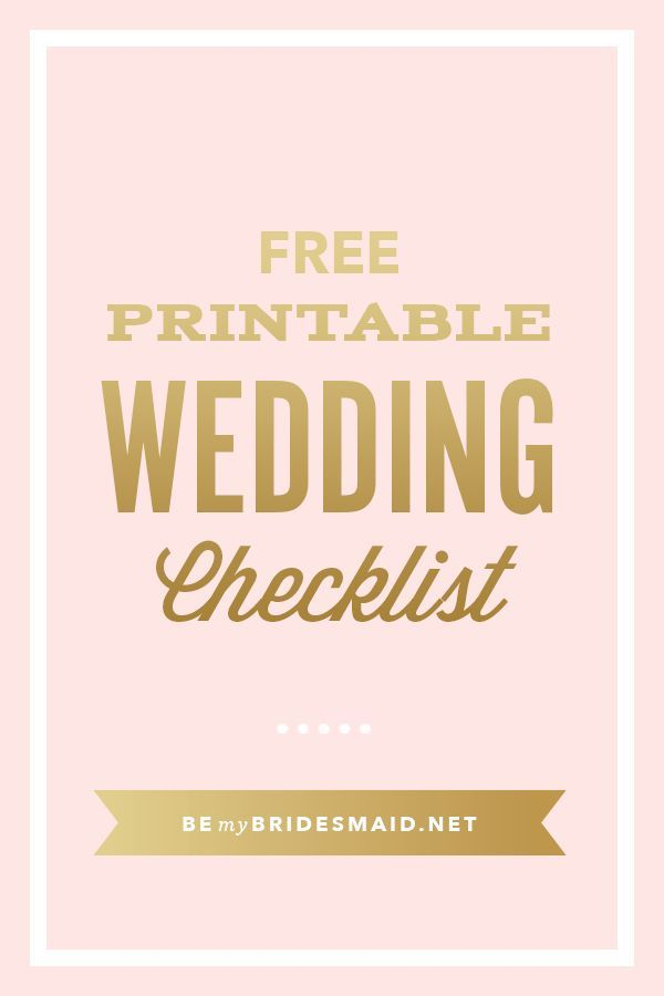 free wedding planning printables checklists