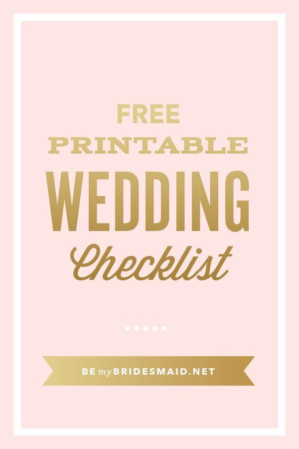 FREE Wedding Planning Printables  Checklists Wedding Planning