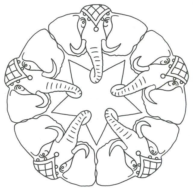 Mandala olifanten elefante - Pagine da colorare ruth e naomi ...