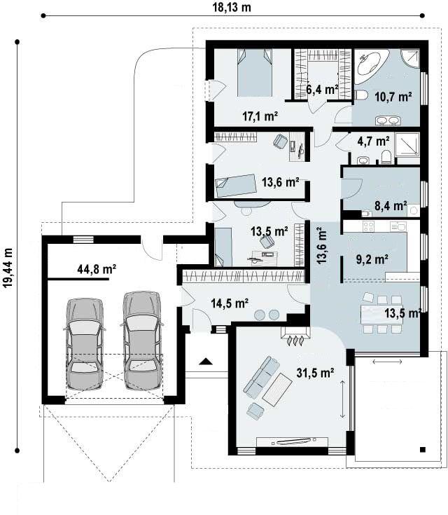 Ficha y planos de casa ciguela estilo r stico - Casas estilo rustico ...