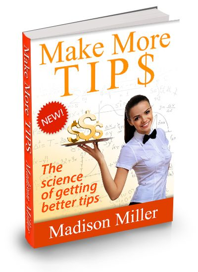 Make More TIPS!  Seriously, Discover Scientifically Proven Techniques For Making Bigger TIPS At Any Service Providing Position! The information in this eBook is compiled from hundreds of person-years of experience, and from a wide range of scientific studies into psychology and tipping. I can't stress enough that these techniques are scientifically proven. People have run trials in real restaurants to measure the effective- ness of these techniques. You need to try these!