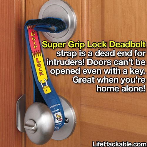 Super Grip Lock Deadbolt Great Idea Especially If You Live In An Apartment Also When Traveling And Staying In Hotels