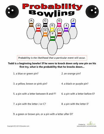 Bowling Probability Math In The Middle School Pinterest