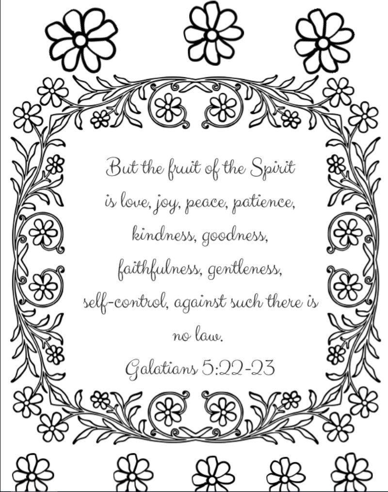 12 Free Bible Verse Coloring Pages