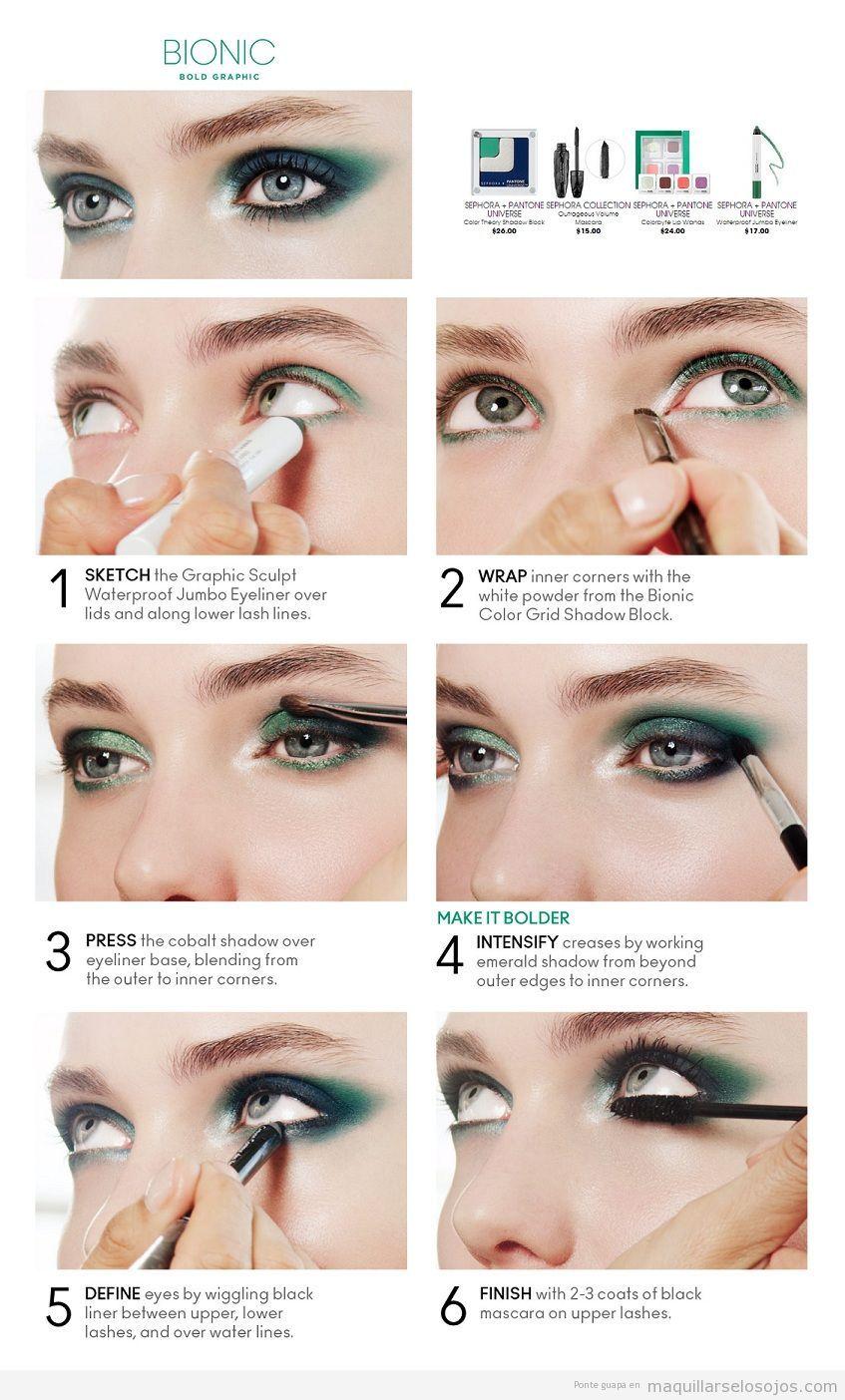Maquillaje paso a paso como combinar maquillaje de ojo y el color - Tutorial Maquillaje De Ojos Tonos Verdes Paso A Paso