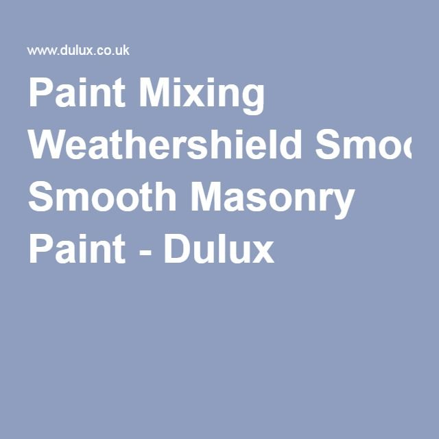 Paint Mixing Weathershield Smooth Masonry Paint