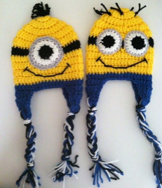 Despicable Me minion hat by mdlebeau03 on Etsy | angry birds | Pinterest