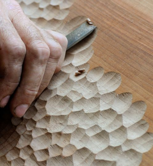 zanat + studioilse collaborate in hand-carved touch collection #woodart