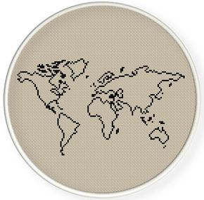 Instant downloadfree shippingcounted cross stitch pdfworld map 2 instant downloadfree shippingcounted cross stitch pdfworld map 2 patterns 1 price zxxc0628 gumiabroncs Gallery