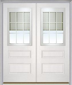 Entry Door Double Door Milliken Millwork Internal Blinds 631rlb