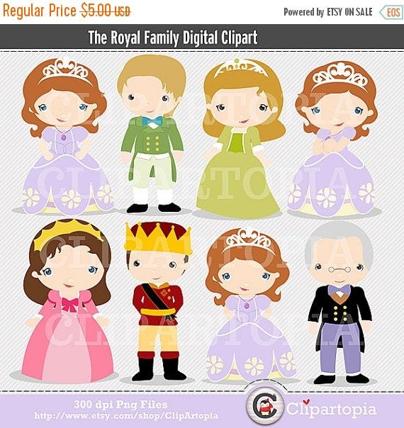 50% OFF SALE The Royal Family Digital Clipart for by ClipArtopia