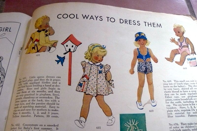 McCall Fashion Book, Mid-Summer 1939 featuring McCall 681 and 669