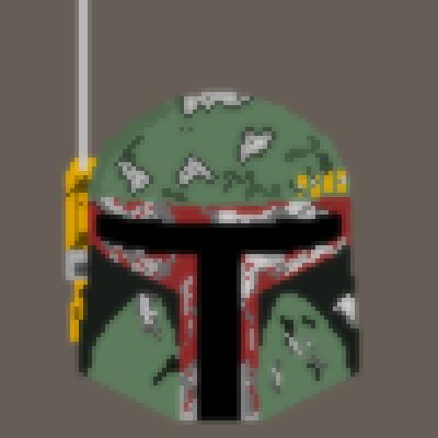 Boba Fetts Helmet Pixels Perler Pixel Art Maker Pixel Art