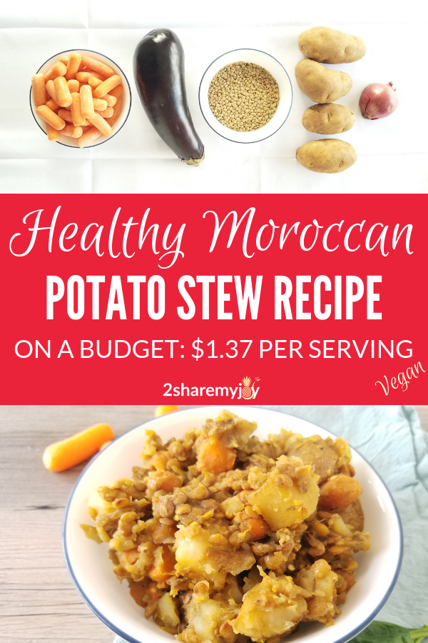 One Pot Moroccan Lentil Potato Stew Vegan Gluten Free