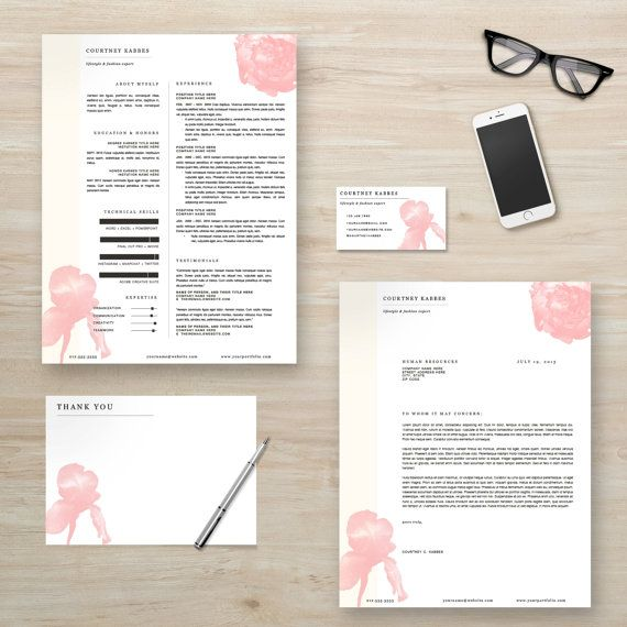 creative resume cover letter business card thank you note by