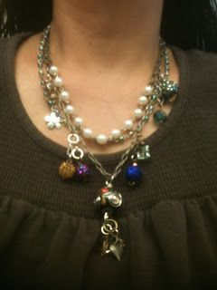 Crazy Art Girl's Musings: Latest necklaces.  We love all the dangles!