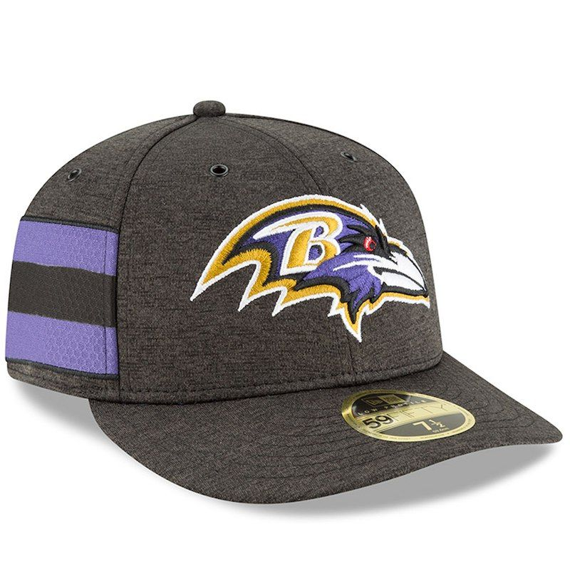 Baltimore Ravens New Era 2018 NFL Sideline Home Official Low Profile  59FIFTY Fitted Hat – Black 7f3dd91b1
