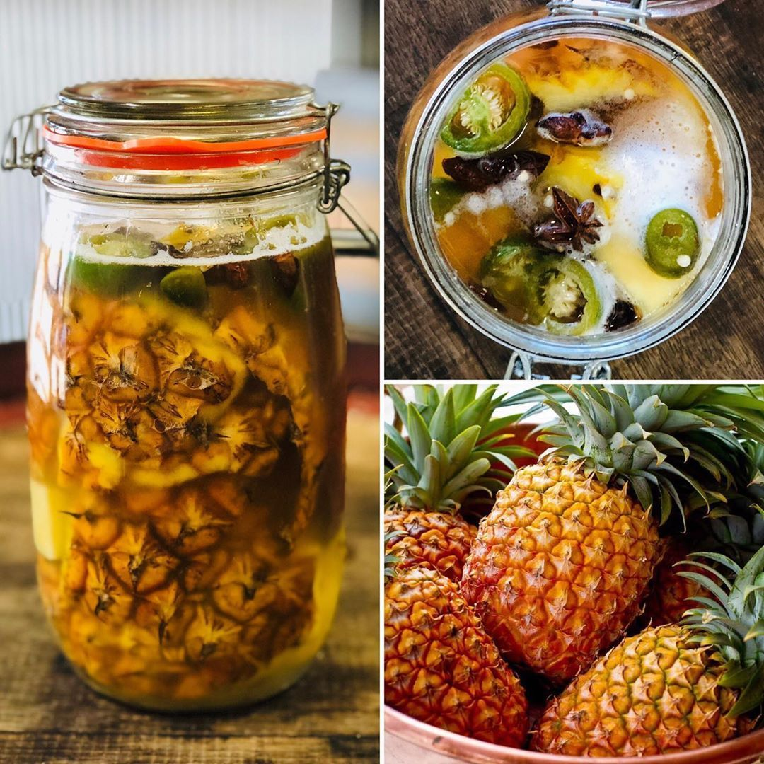 """Buchi Kombucha, Kefir & Tonics's Instagram photo: """"The Humble Pineapple � and a super easy no waste ferment - Tepache.. As the cold weather hits and the sore throats and colds start getting…"""""""