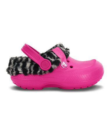 55bc788de58759 Another great find on  zulily! Candy Pink   Black Animal Blitzen II Lined  Clog by Crocs  zulilyfinds