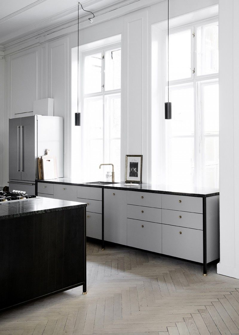 Best Grey Black Kitchen Designed And Crafted By Danish Kbh 640 x 480