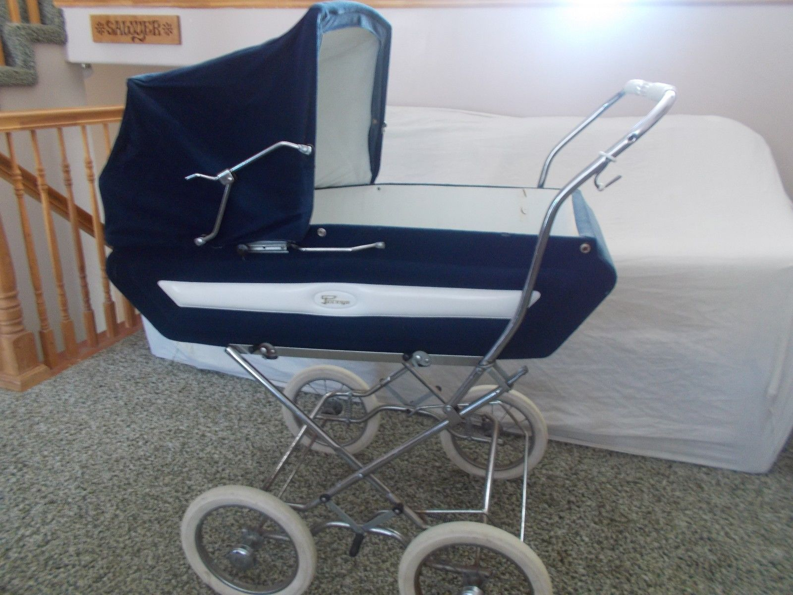 Vintage Antique Perego Baby Carriage Stroller Pram