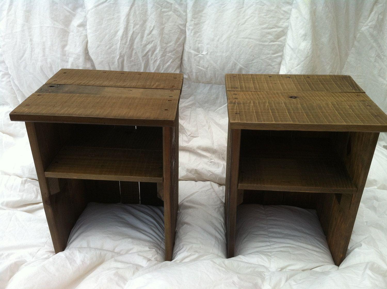 Custom Made Pallet Wood Bedside Table