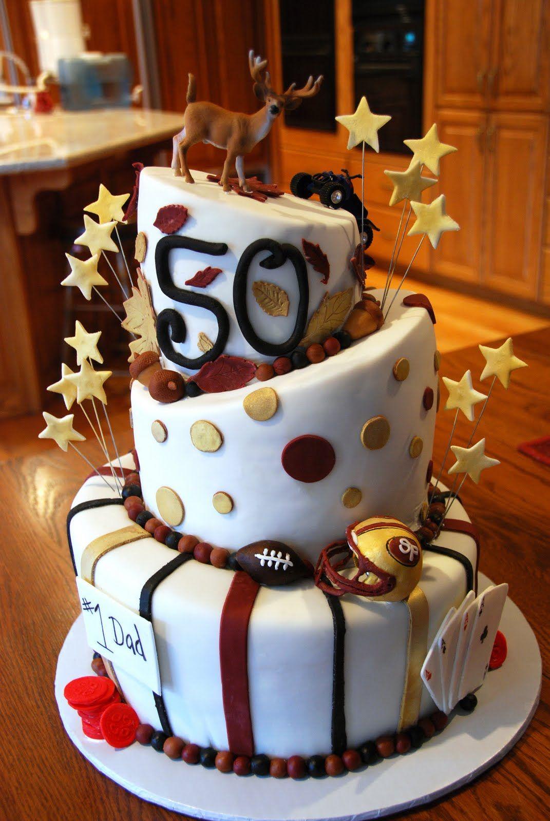 CupeeCakes 50th Birthday Cake Funny 50th birthday