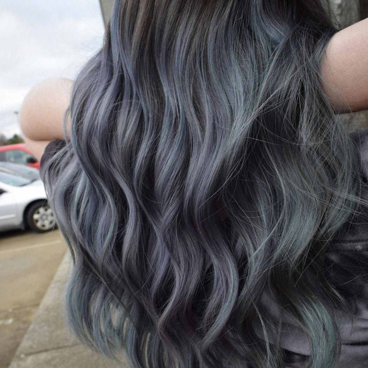 Charcoal Hair Color Unicorn Grey Hair Dye In 2020 Permanent Hair Dye Charcoal Hair Brunette Hair Color
