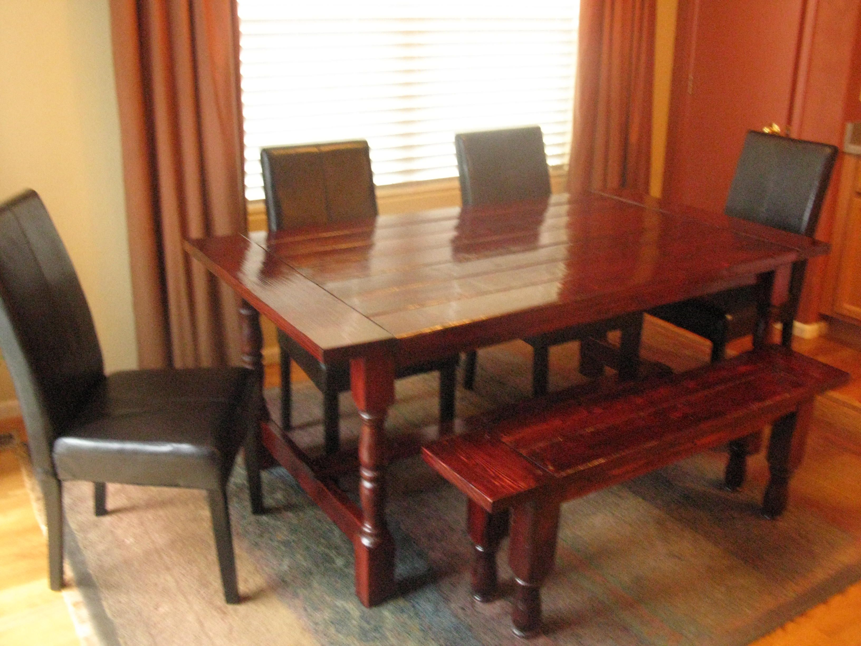 DIY Farmhouse table dessy legs Farmhouse dining table