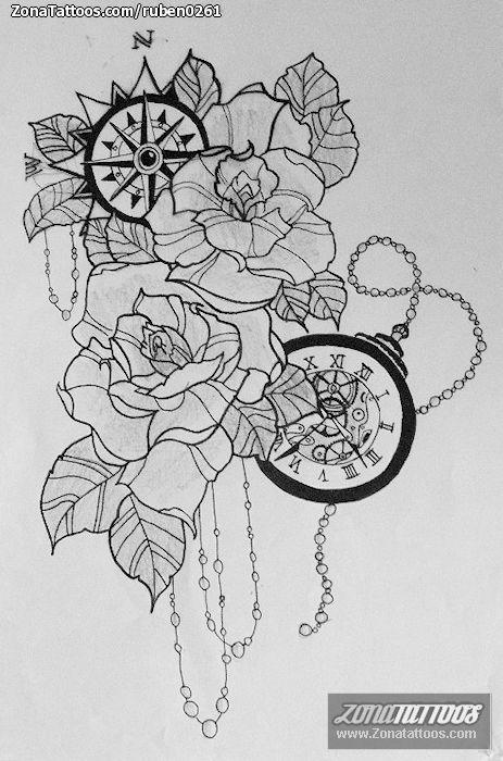 Resultado de imagen para tatuajes de reloj de arena | Tatuajes ...