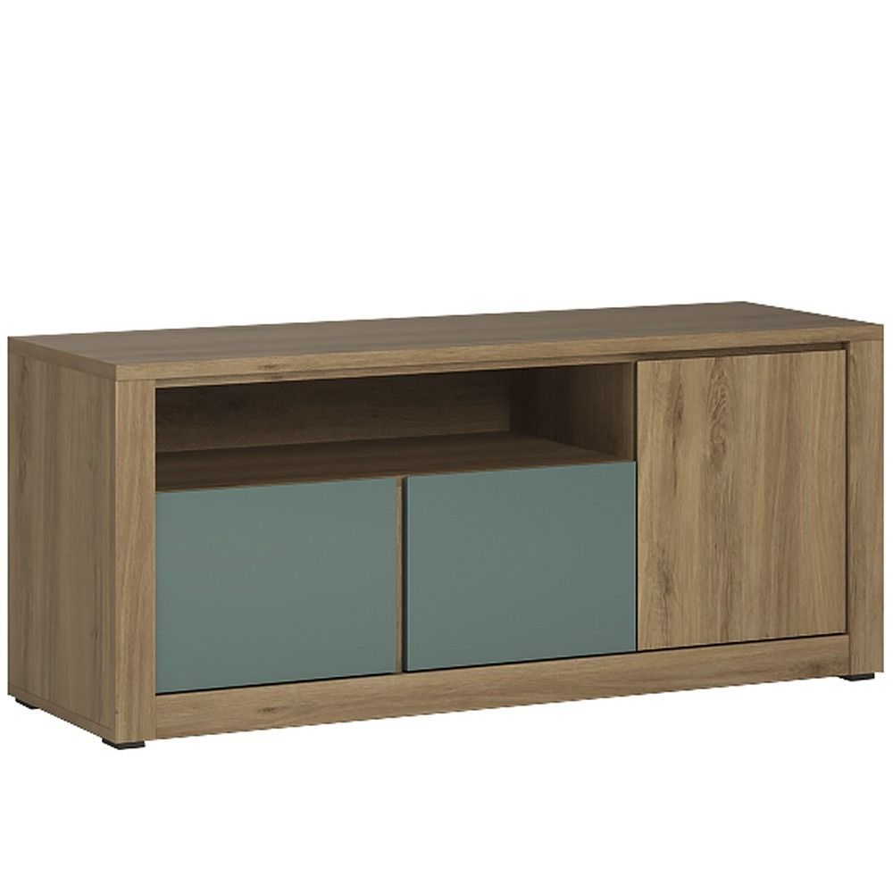 Hobby Tv Cabinet In Oak Melamine Turquoise Whether Used In The  # Image Deco Meuble Tv En Melamine
