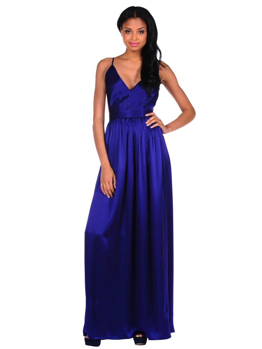 Maxi dress for wedding  Contrarian Babs Bibb Maxi Dress in Antique Blue  Wedding Attire