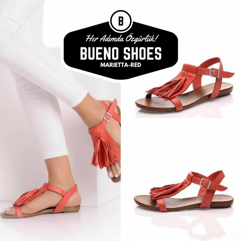 Rahat Sik Saglikli Kirmizi Puskullu Hakiki Deri Bayan Sandalet 99 99 Tl Buenoshoes Sandalet Ayakkabilar Deri