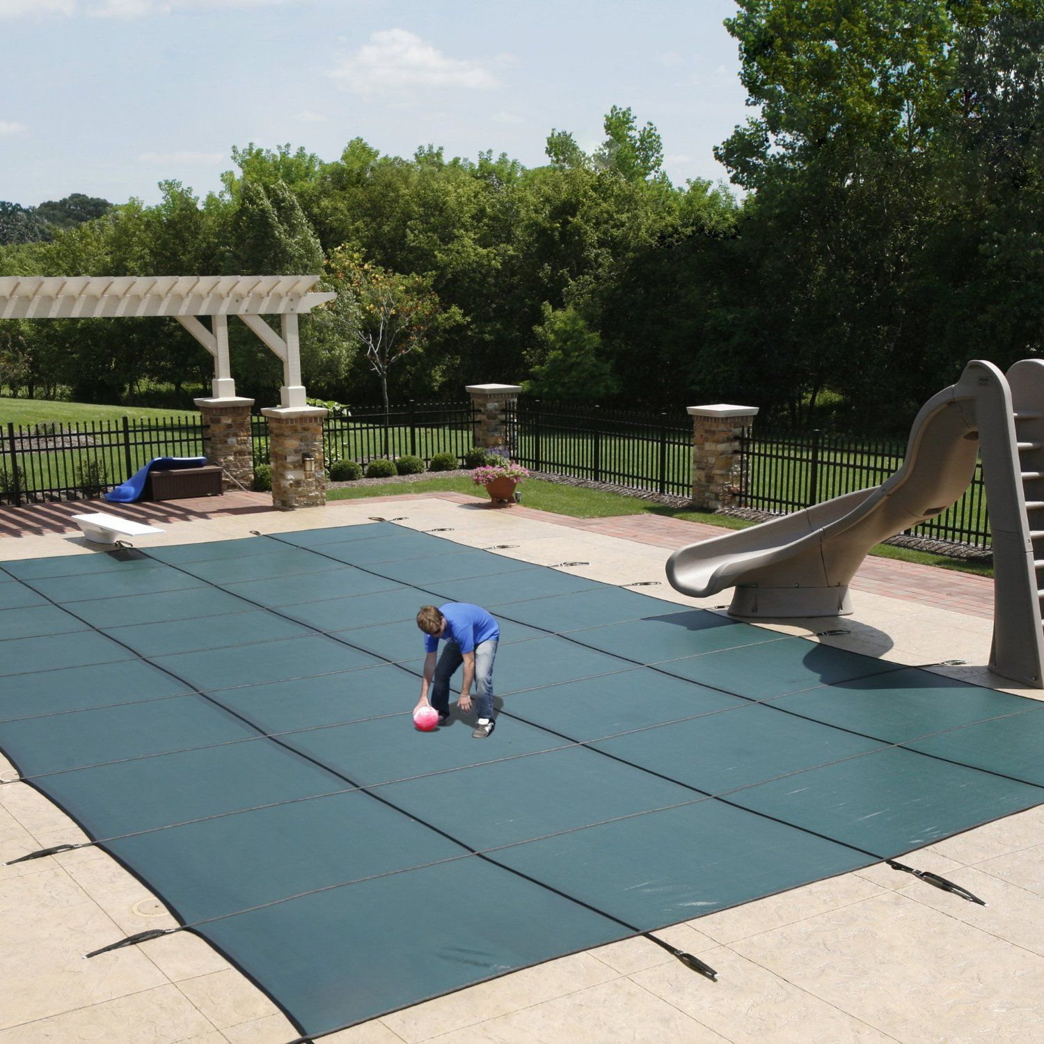 Outdoor Above Ground Round Swimming Pool Set With Filter Ladder Cover