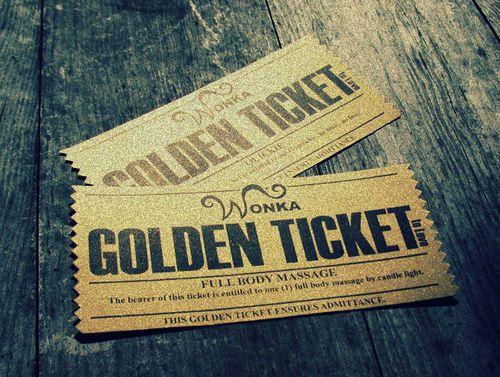 Golden Ticket | via Tumblr