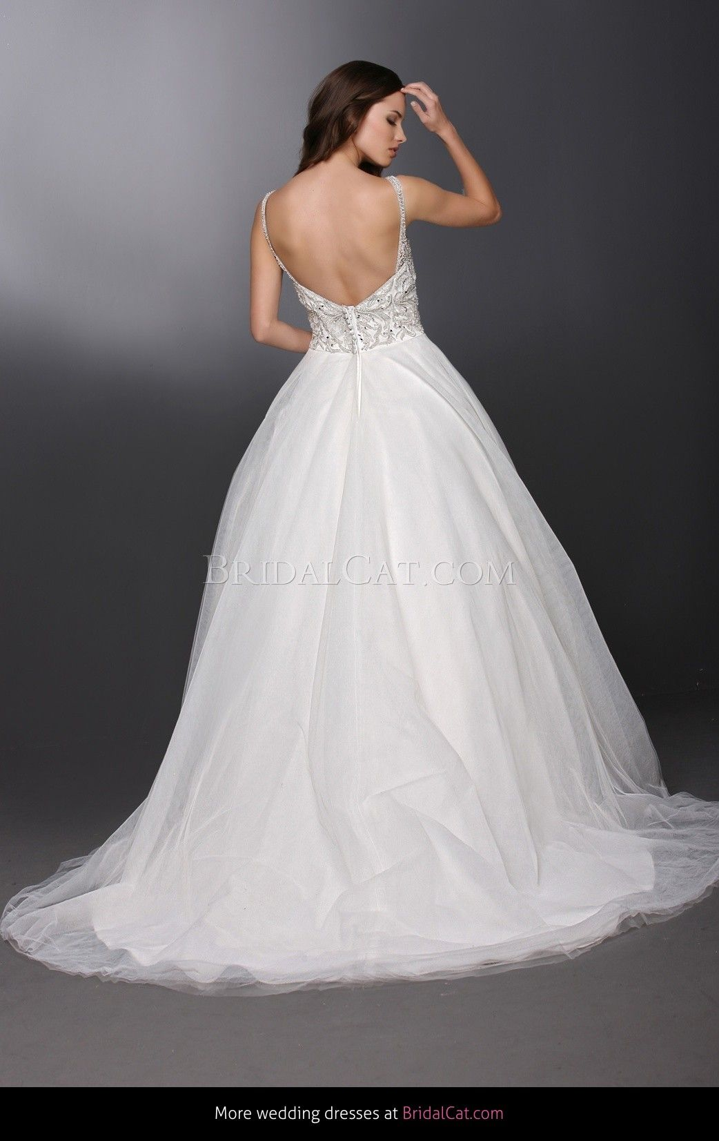 White and silver wedding dresses  Style   Wedding Gowns  DaVinci Bridal  Available Colours