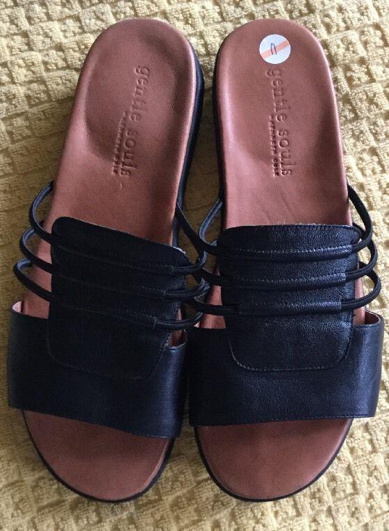 020ea8f17 Gentle Souls Kenneth Cole SZ-11 Women s NEW Leather Sandals Slides Shoes