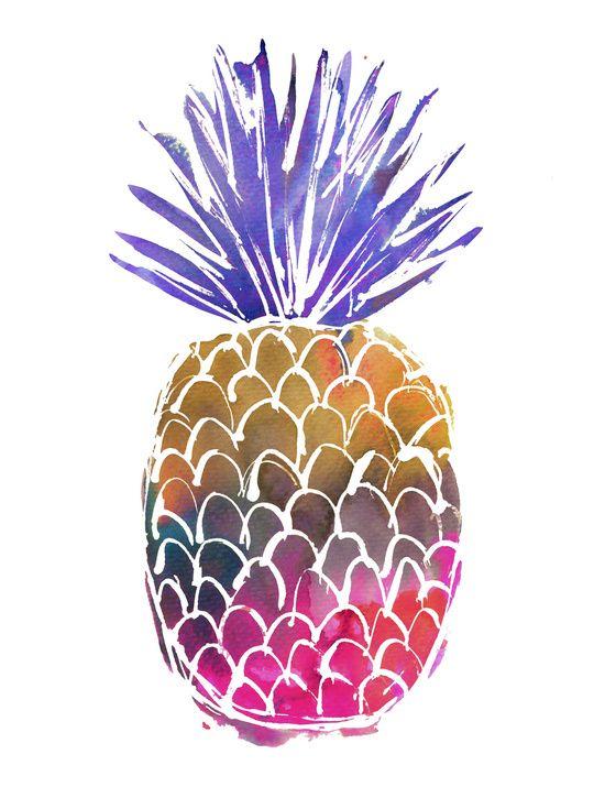 GoodVibes Pineapple Art Print by schatzibrown #pineapple #schatzibrown