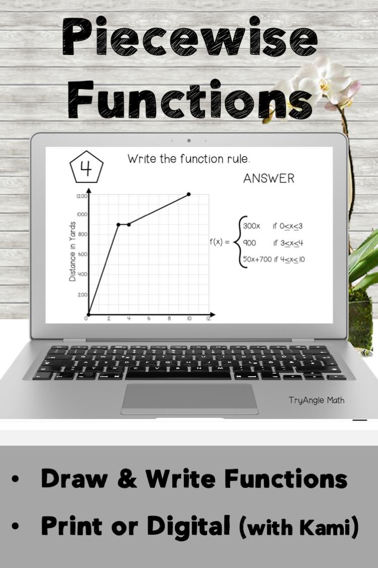Piecewise Functions Math Drawing Writing Function [ 1125 x 750 Pixel ]