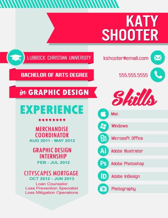Brilliant Graphic Design Resume. Definitely An Inspiration