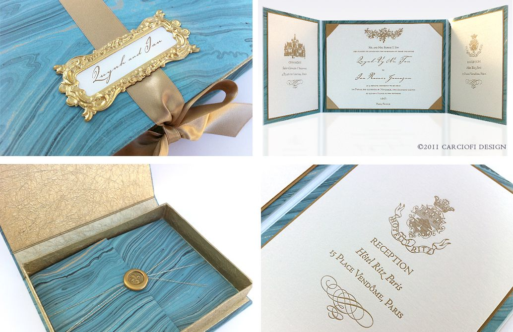 Vinas invitation Classic invitation Gold hot stamp Gold foil - wedding invitation design surabaya