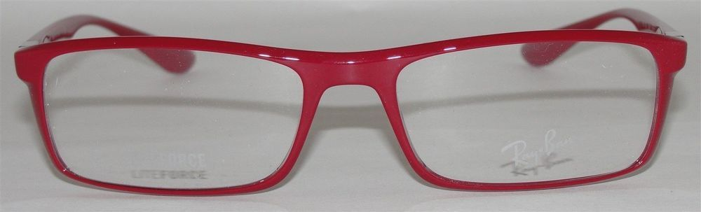 a851b8a18d New Authentic Rayban Liteforce Eyeglasses Frame RB7035 5435 Red Italy 54 17  145
