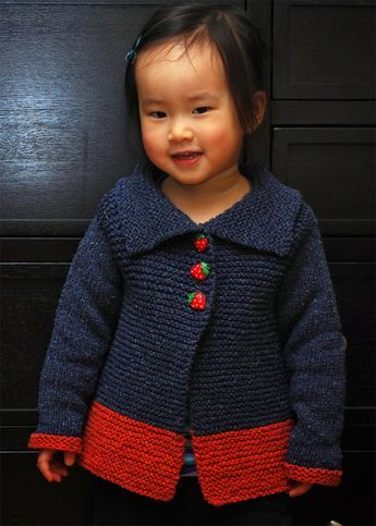 46ae253f7 Free Knitting Pattern for Sawtelle Child s Cardigan - Easy sweater ...