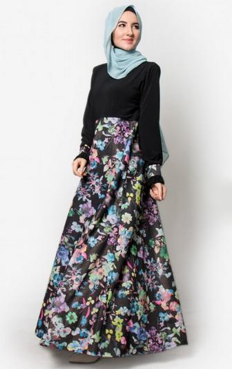 Gamis Batik Kombinasi Busana Muslim