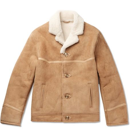 b8d618643b8 KINGSMAN KINGSMAN - TEQUILA S STATESMAN LEATHER-TRIMMED SHEARLING BOMBER  JACKET - BEIGE.  kingsman  cloth